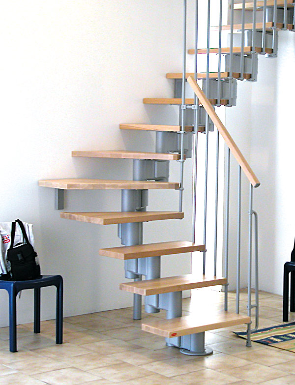 Modular spiral stairway kompact spiral staircase for Prefabricated staircases